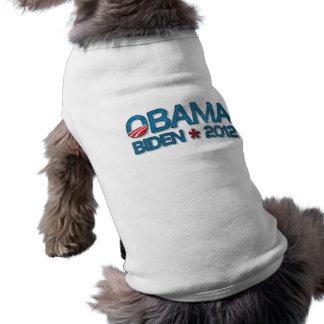 Obama Biden 2012 Dropshadow Blue Sleeveless Dog Shirt