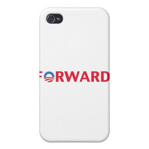 Obama / Biden 2012 Forward Slogan (Red) iPhone 4 Cover