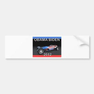 Obama Biden 2012 Racing Car Car Bumper Sticker