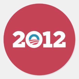 Obama / Biden 2012 (Red) Sticker