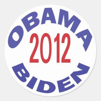 Obama - Biden 2012 Round Stickers