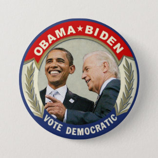 Obama Biden 2012 Vote Democratic 7.5 Cm Round Badge