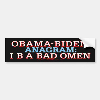 Obama-Biden Bad Omen Bumper Sticker