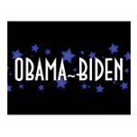 Obama Biden Blue Stars Post Cards