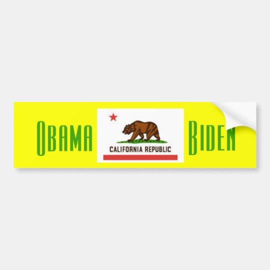 Obama Biden CALIFORNIA Bumper Sticker