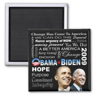 Obama Biden Collage Magnet (black)