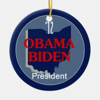 Obama Biden OHIO Christmas Ornament