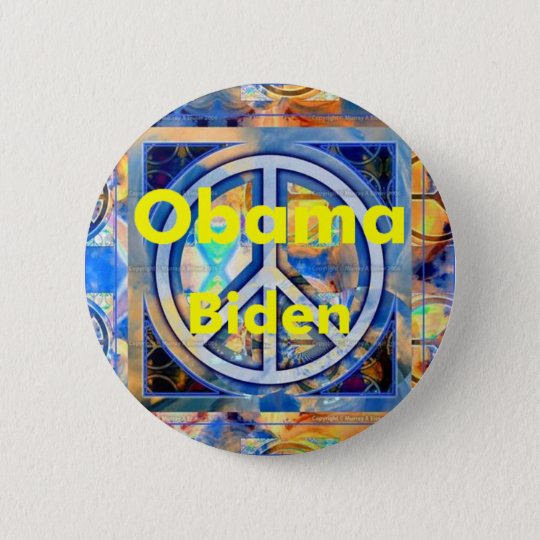 Obama Biden PEACE Button