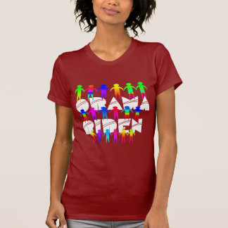 Obama Biden Rainbow People T-shirt