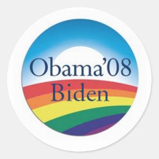 Obama Biden RAINBOW Stickers
