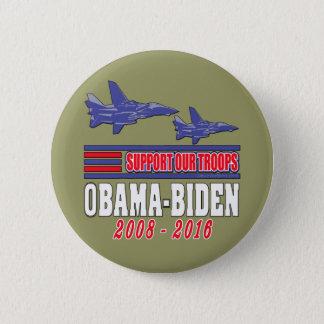 Obama Biden Support Our Troops 6 Cm Round Badge