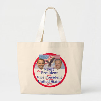 Obama Biden Jumbo Tote Bag