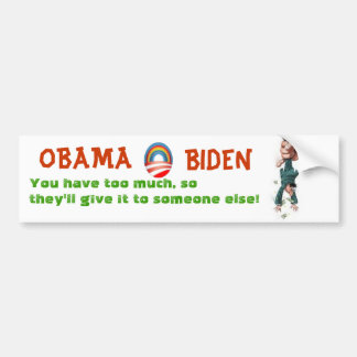 OBAMA &  BIDEN will tax you into poverty Bumper Sticker