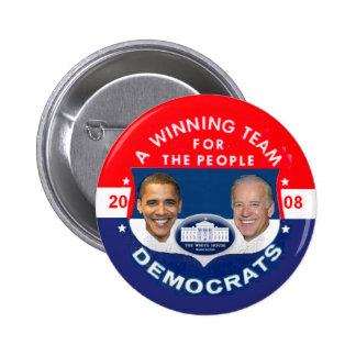 Obama Biden WINNING TEAM White House Button