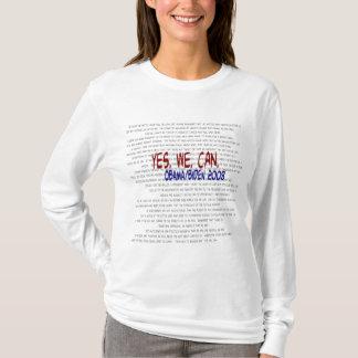 Obama/Biden - Yes We Can Speech T-Shirt