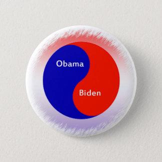 Obama ~ Biden Yin Yang 6 Cm Round Badge