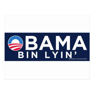 Obama bin Lyin' Postcard