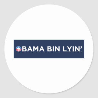 Obama bin Lyin' Round Sticker