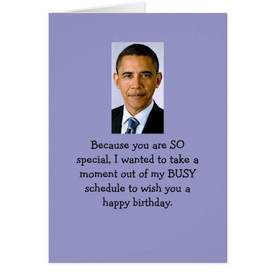 Obama birthday wishes card