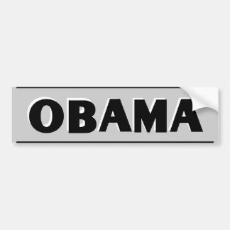 Obama Black on Gray Bumper Sticker