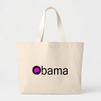 Obama-Blk Kiss) Jumbo Tote Bag