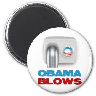 Obama Blows 6 Cm Round Magnet