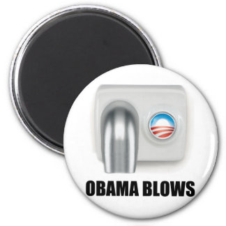 Obama Blows 6 Cm Round Magnet
