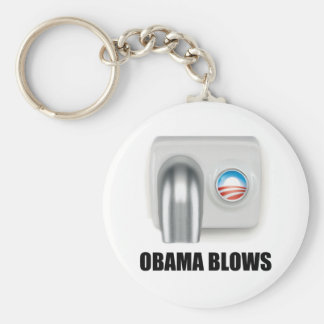 Obama Blows Basic Round Button Key Ring