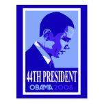 Obama Blue 44th President Postcard