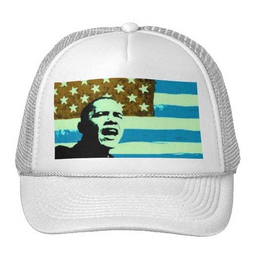 Obama Blue US Flag Hat
