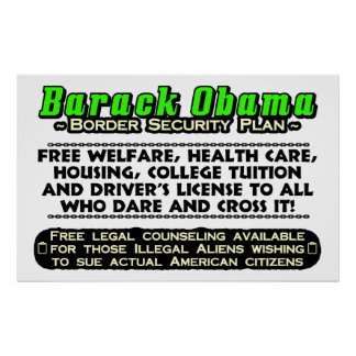 Obama Border Security Plan Poster