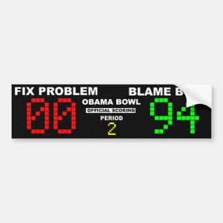 Obama Bowl - Official Scoring Car Bumper Sticker