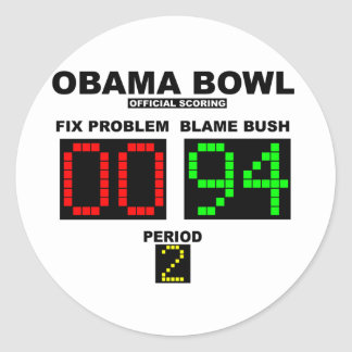 Obama Bowl - Official Scoring Classic Round Sticker