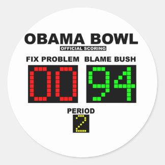 Obama Bowl - Official Scoring Classic Round Sticker