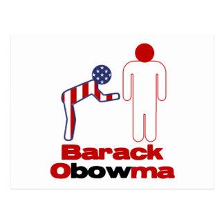 Obama Bows Postcard