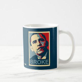 Obama:  Broke Basic White Mug