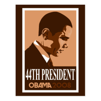 Obama Brown 44th President Postcard