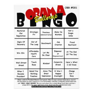 Obama Bullcrap Bingo #001 & #002 21.5 Cm X 28 Cm Flyer
