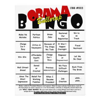 Obama Bullcrap Bingo #003 & #004 Full Color Flyer