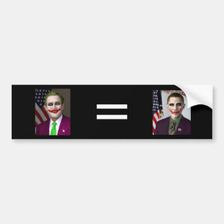 Obama = Bush Bumper Sticker