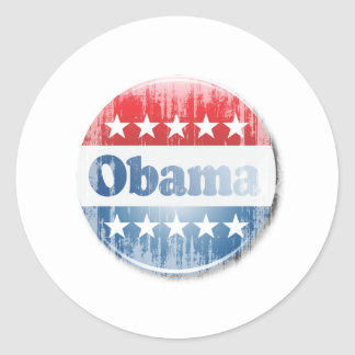 OBAMA CAMPAIGN BUTTON Vintage.png Round Stickers