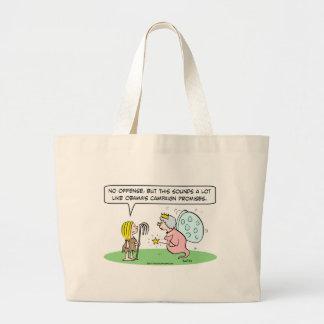 obama campaign promises cinderella fairy godmother tote bag