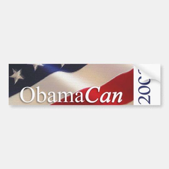 Obama Can - Bumper Sticker