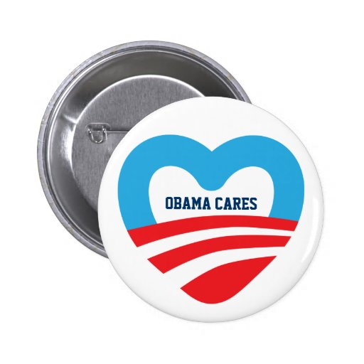 Obama Cares 6 Cm Round Badge