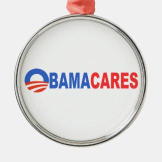 Obama Cares Christmas Ornament