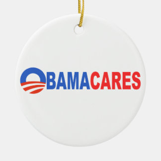 Obama cares christmas tree ornaments
