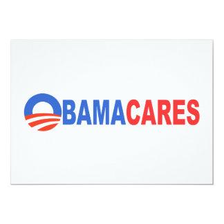 Obama Cares 13 Cm X 18 Cm Invitation Card
