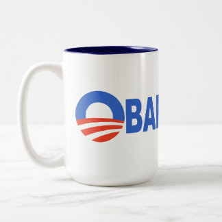 Obama cares Two-Tone mug
