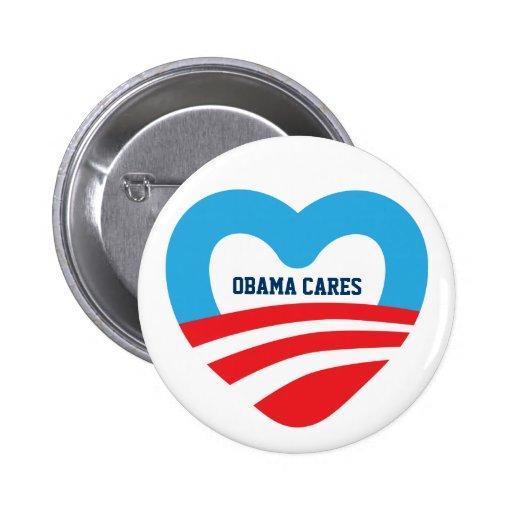 Obama Cares Pin