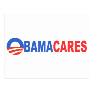 Obama cares postcard